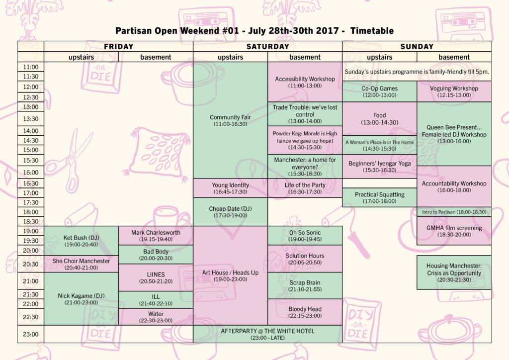 POW 1 timetable