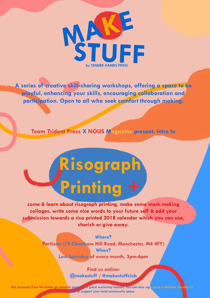 MAKE STUFF – Intro to Risograph printing by Team Trident Press