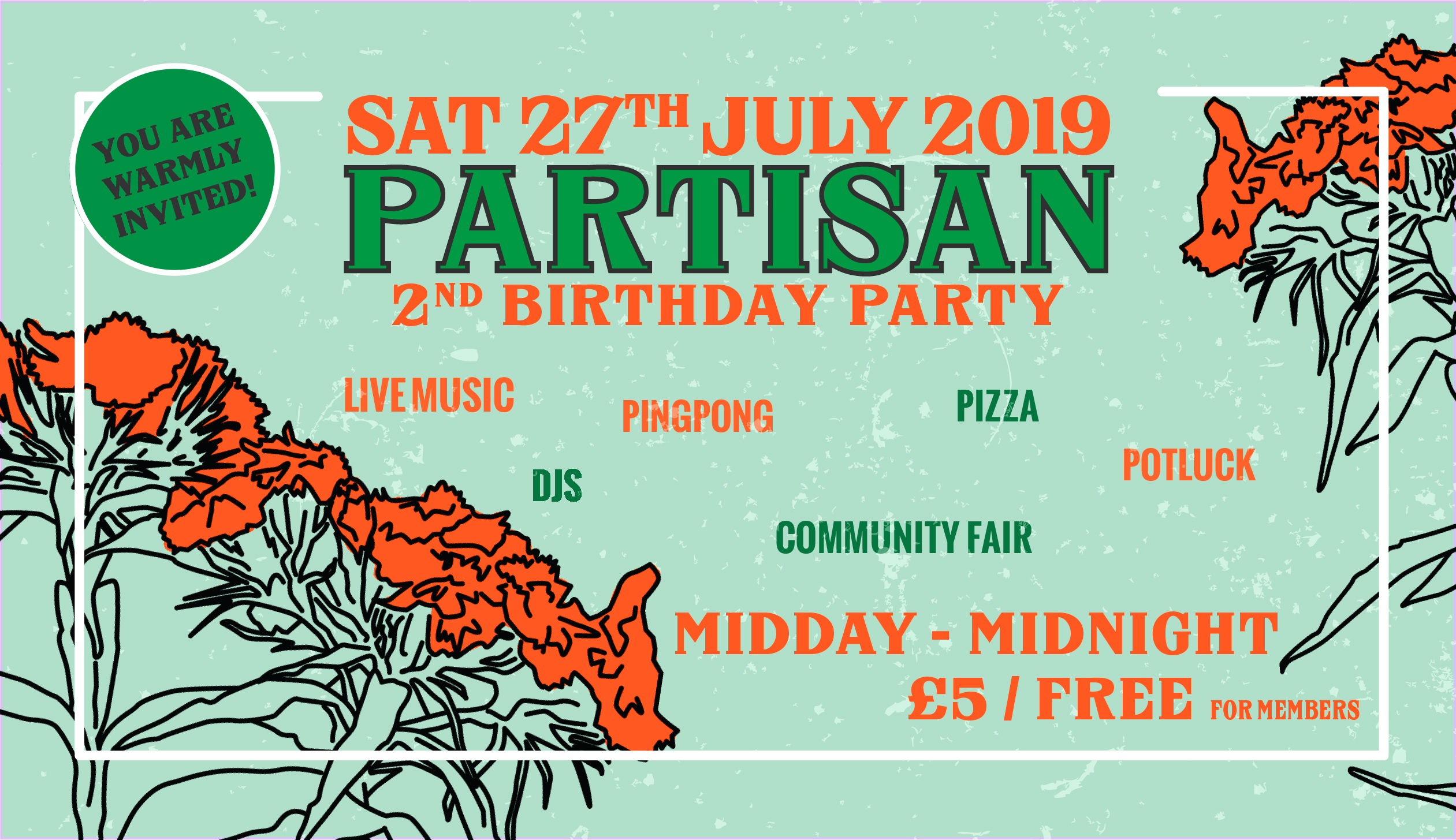 Partisan's 2nd Birthday Party!