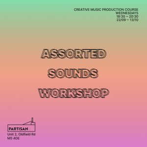 promo imagery for the assorted sounds workshop