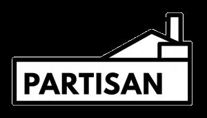 black/white image of the partisan logo